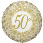 "50th ANNIVERSARY BALLOON 18"" 17388-18"
